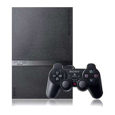 Sony PlayStation 2 Slim Black Console Good Condition