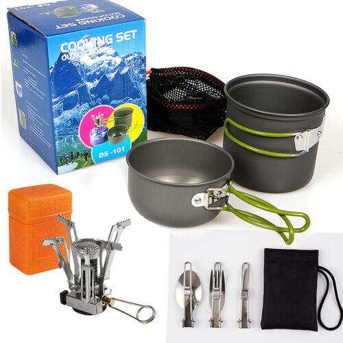 Cookware Portable Gas Camping Stove Butane Propane Burner Outdoor Hiking Picnic