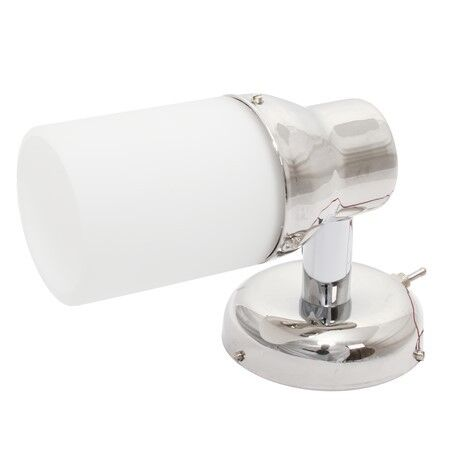 Warm White Stainless Steel LED 12 Volt /& 24 Volt Frosted Shade Wall Light
