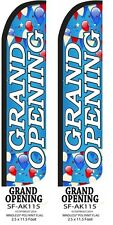 Grand Opening Withballoons Two2 Windless Feather Flag Kits Withpole Amp Ground Spike