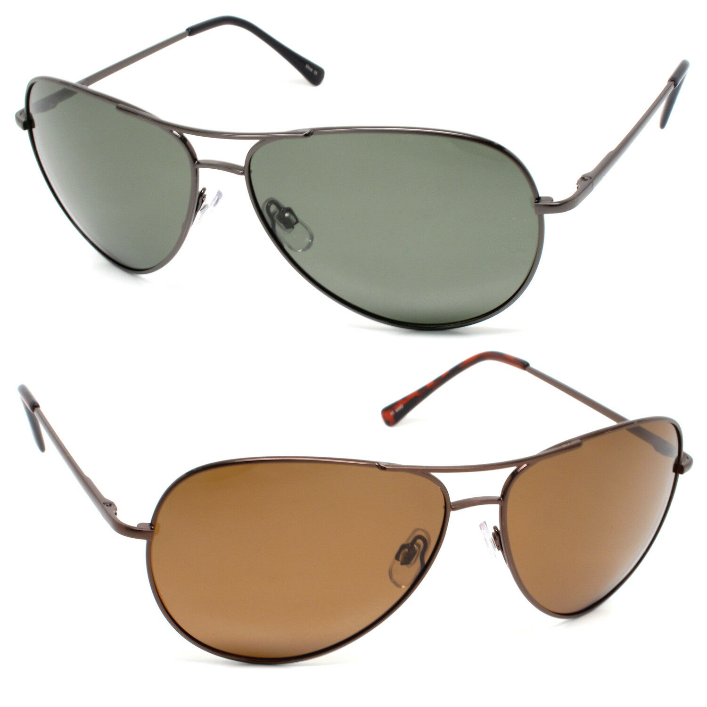 29ec958071 Large Aviator Metal Frame Polarized Sunglasses with Spring Hinges for Men  Women