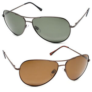 ab4aab3bad Image is loading Large-Aviator-Metal-Frame-Polarized-Sunglasses-with-Spring-