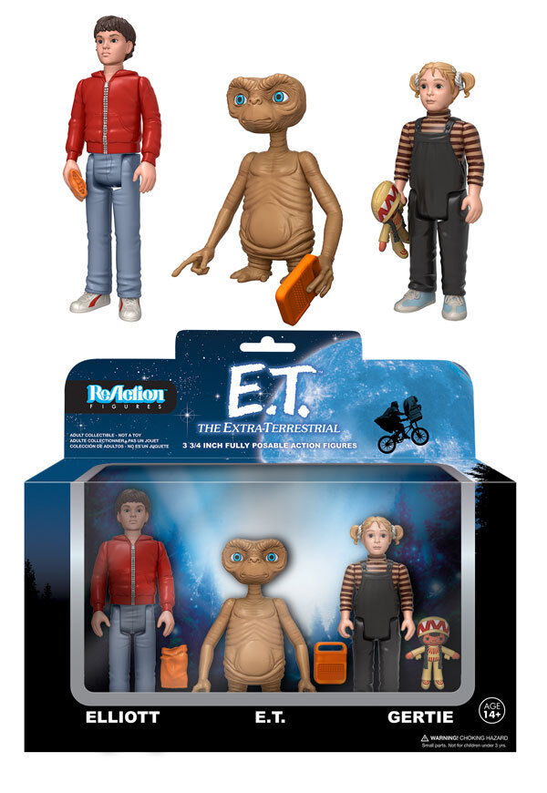 Funko REACTION E.T. Boxed SET (3 Personaggi) LIMITED EDITION 5000 pcs