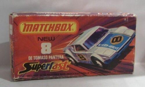 08 De Tomaso Pantera weiß Repro Box Matchbox Superfast Nr