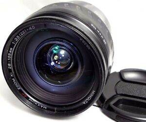 Minolta-Maxxum-AF-28-105mm-f3-5-4-5-lens-scratched-front-glass-for-Sony-A-mount