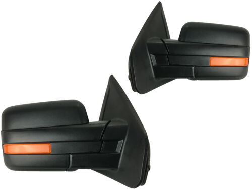 Ford F150 F-150 07-14 Power Heated Signal Puddle Lamp Mirror Pair Set