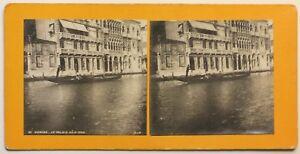 Venezia Palais Ca' D'Oro Italia Foto Stereo P49p2n Vintage Analogica