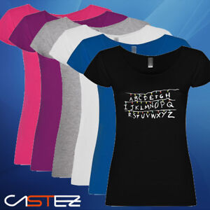 Camiseta-mujer-abc-abecedario-luces-navidad-will-stranger-things-ENVIO-24-48h