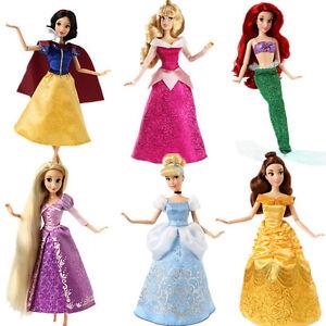 Meerjungfrau-Schneewittchen-Belle-Cinderella-Rapunzel-Jasmine-Barbie-Doll-Puppe