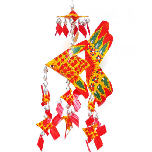 Palm leaf handcraft Hanging mobile for home and garden in Sparking colors