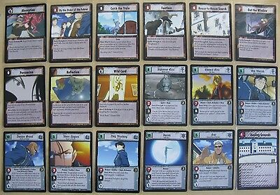 Part 1//3 Full Metal Alchemist TCG Premiere Rare Cards