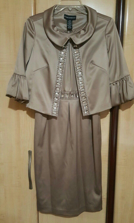 Women's 2 Piece Dress Suit with Swarovski Crystals