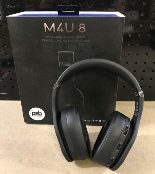 3e748b95c95 PSB M4u 8 Wireless Active Noise Cancelling HD Bluetooth Headphones for sale  online | eBay