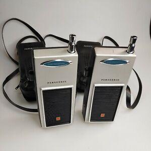 Vintage Panasonic Transceiver RJ-3 vintage walkie talkies with cases