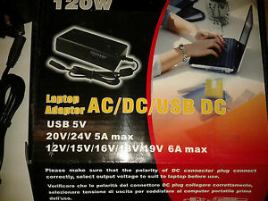 NEW-120W-12-24V-UNIVERSAL-AC-DC-LAPTOP-CHARGER-ADAPTER-POWER-SUPPLY-amp-USB-PORT