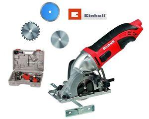 Einhell-TC-CS-860-Kit-inkl-3-Saegeblaetter-Minihandkreissaege-Handsaege-Elektrosaege