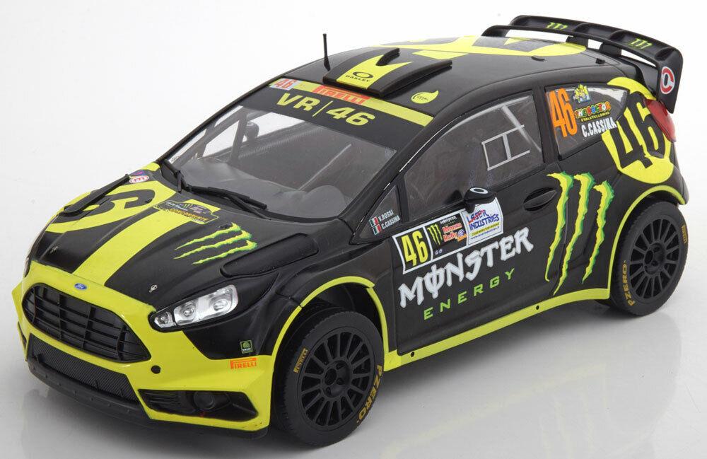 forma única Ford Fiesta RS WRC Rally Monza Monza Monza 2014 V.Rossi 1 18 18RMC014 Ixomodels  alta calidad y envío rápido