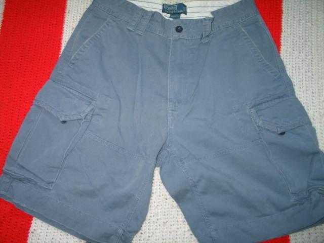 Ralph Lauren Polo Cargo Shorts Men's Sz 32 Classic Fit bluee