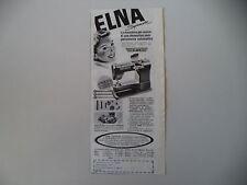 advertising Pubblicità 1954 MACCHINA PER CUCIRE ELNA SUPERMATIC