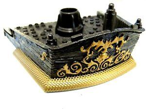 "Mega Bloks Pirates Of The Caribbean Black Pearl Ship At Worlds End Boom Pole 8/"""