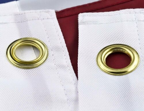 3/' X 5/' U.S.//USA AMERICAN FLAG NYLON EMBROIDERED SOLID BRASS GROMMETS3X5