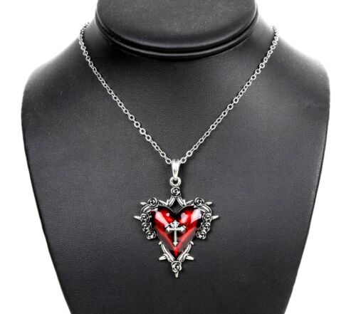 Red Rose Secred Heart Cross Thrones Steampunk Necklace Pendant Punk Gothic