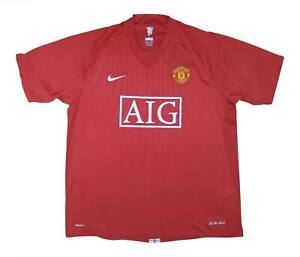 Manchester United 2007-09 Authentic Home Shirt (eccellente) XL soccer jersey