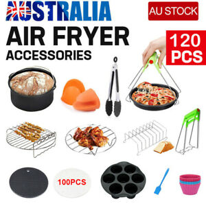 120 Pcs 8 Air Fryer Accessories Rack Cake Pizza Oven Barbecue