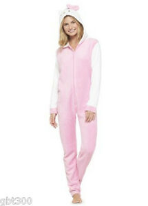 b6009ccfa Hello Kitty Hooded S-M-XL Fleece Pajamas Union Suit One Piece Adult ...