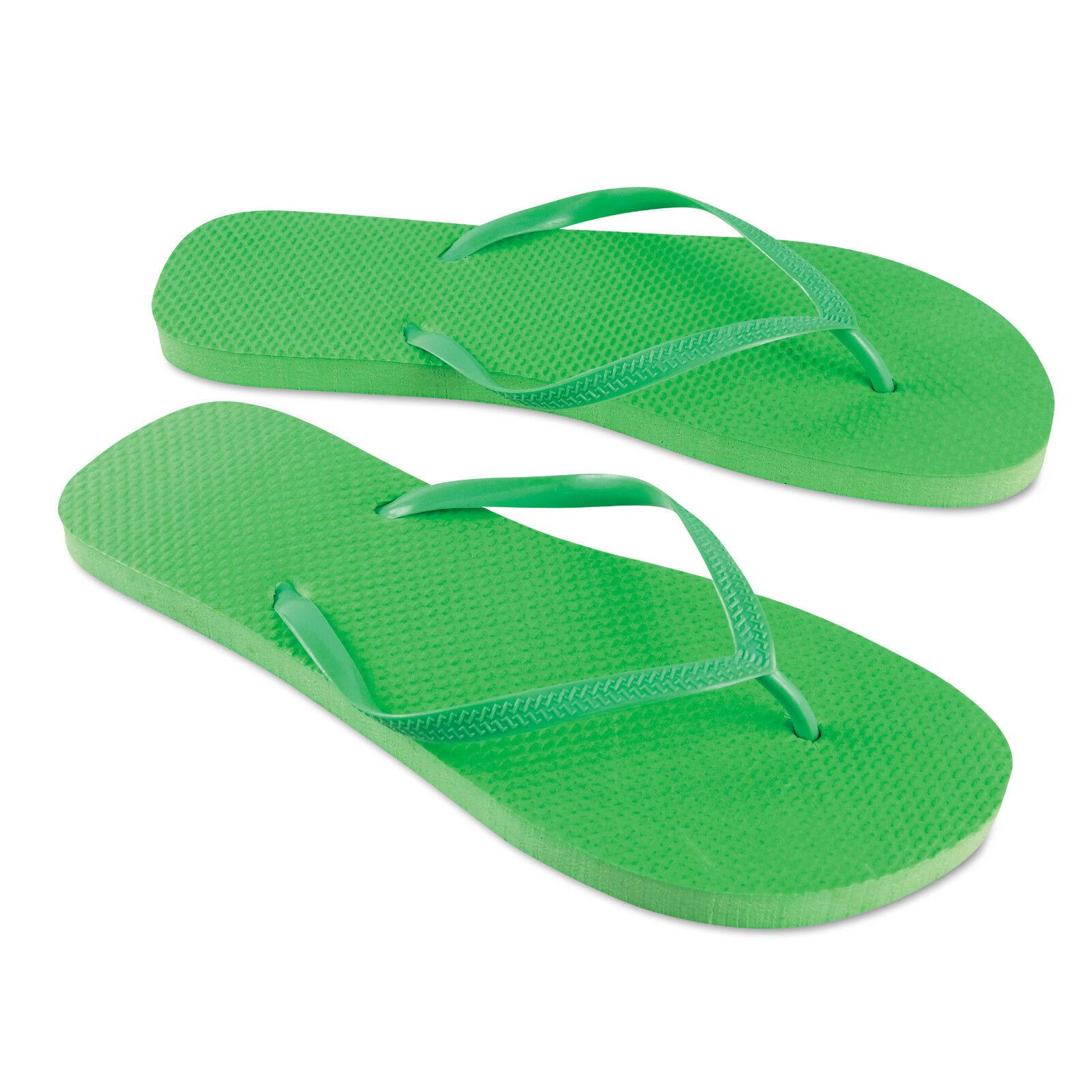 BN Mens Beach Flip Flops Summer Sandals Bright Foam 2 Sizes M//L Approx Size 6//9