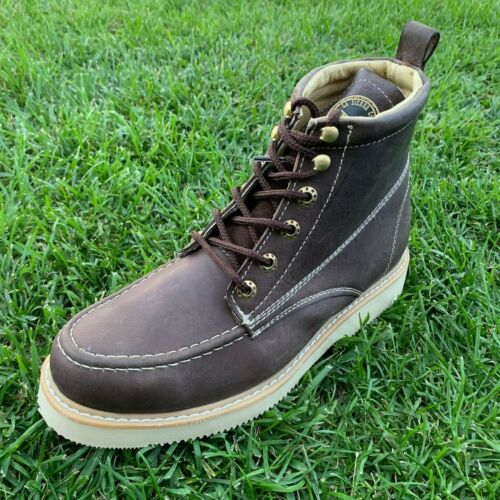 Bota de trabajo Construction Men/'s Lace-up Safety Work Boots Leather 6-14