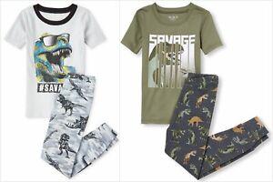 NWT The Childrens Place Emoji Boys Short Sleeve Pajamas Set 7-8 10-12 14 16