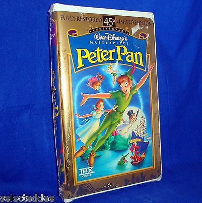 Walt Disney's Masterpiece 45th Anniversary PETER PAN VHS Factory Sealed Tape NEW