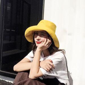 d1ab9e5bc285a Summer Hat Ladies Panama Bucket Hat Folding Cap Visor Fishing ...