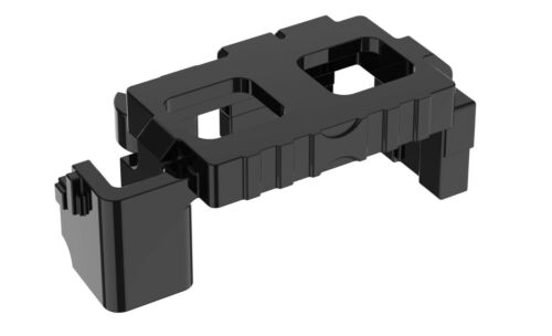 army police belt compatible with toy brick minifig Black Tactical Belt W37