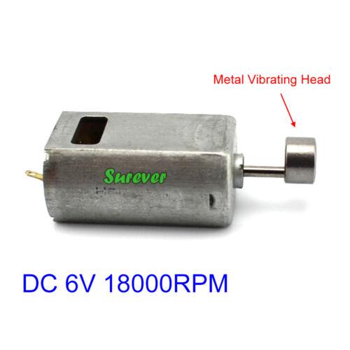 DC 3V~6V 18000RPM Micro Mini 180 Vibration Vibrating Head Motor DIY Toy Massage
