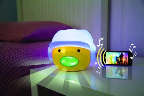 Bruit Activé Couleur Changeante Tête Lumière Nuit Lampe DEL Neuf Cadeau