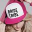 Mariée tribu ajustable casquette poule nuit mariage trucker baseball cap texte demi-maille