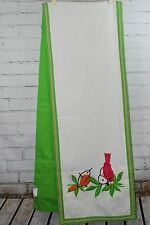 The Company Store BIRDS Table Runner 16x90 100% Cotton Canvas Crewel Embroidery
