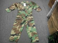 Boys Unlined Woodland Camo Hunting Coverall Youth Jump Suit Made In Usa Size S