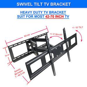 Swivel-Tilt-LCD-LED-Flat-TV-WALL-MOUNT-BRACKET-42-47-48-49-50-55-60-65-70