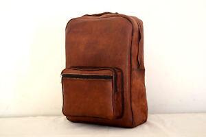 MEN-039-S-Real-Leather-Handmade-Messenger-Brown-Vintage-Satchel-Backpack-Travel-Bag