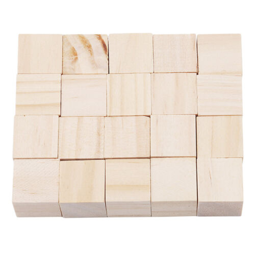 1.5cm Natural Wooden Cubes Building Blocks Stacking Games Toy  for Kids FG