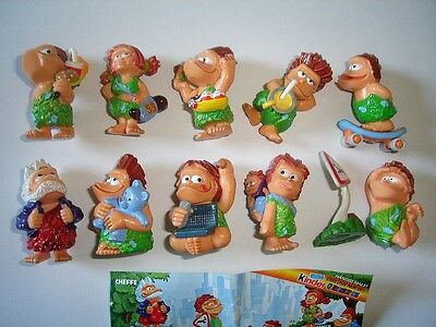 KINDER SURPRISE SET - OTZIS CAVEMEN NEANDERTHALS 2003 - FIGURES COLLECTIBLES