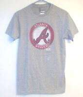 Mlb Genuine Merchandise Atlanta Braves Mens Gray Tshirt Sizes Sm And Med