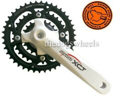 Suntour XCT V3 White Chainset Crankset MTB 22/32/42T 175mm Bicycle 24 speed 8sp