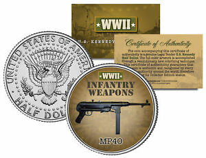MP40-WWII-Infantry-Weapons-JFK-Kennedy-Half-Dollar-U-S-Coin