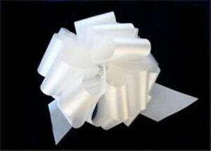 25-5-034-White-Satin-Pull-Bows-GIFT-WRAP-SUPPLIES-Christmas-Gifts-Wedding-Wreaths