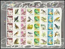 Nature,Korean Bird,Korea Full Stamp Sheet,Owl,Eagle,woodpecker