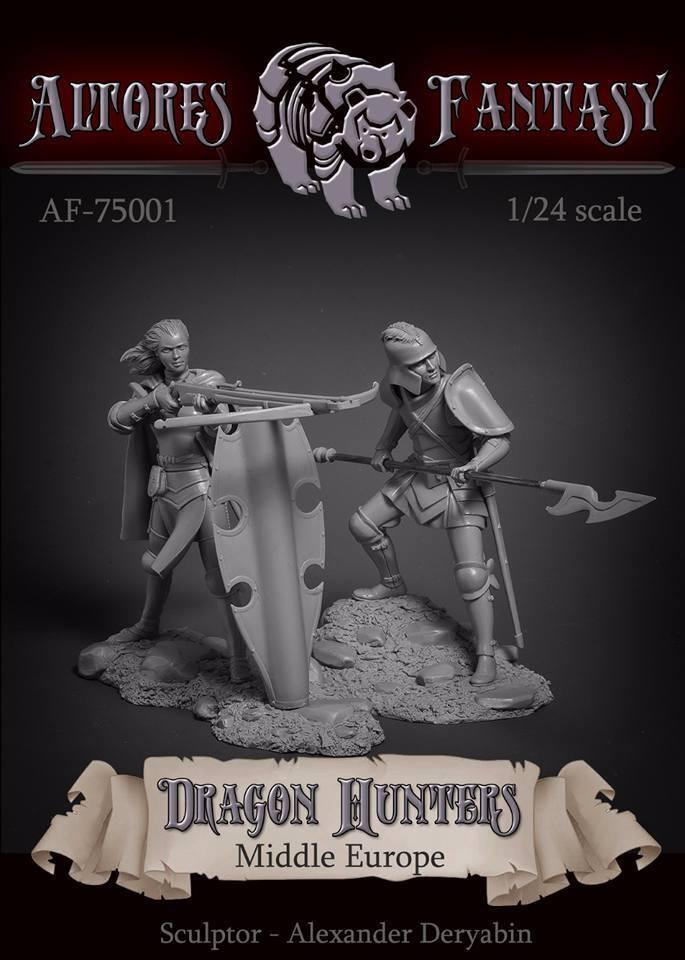 trova il tuo preferito qui ALTORES STUDIO AF7501 Dragon hunters hunters hunters Middle Europe 75 mm.  moda